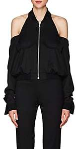 Helmut Lang Women's Cutout-Shoulder Wool Bomber Jacket - Black