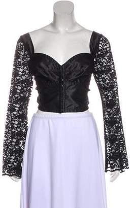 Dolce & Gabbana Long Sleeve Corset Top