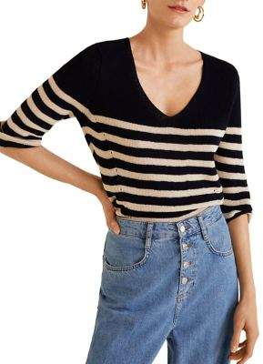 MANGO Misture Knit Stripe Sweater