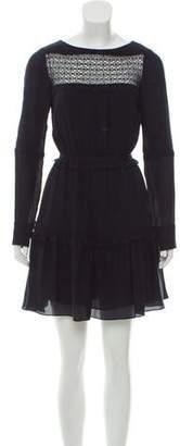 Tanya Taylor Long Sleeve Silk Mini Dress w/ Tags