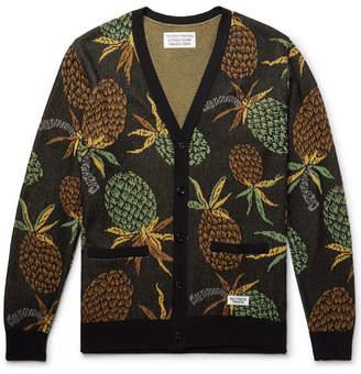 Wacko Maria Pineapple Cotton-Jacquard Cardigan