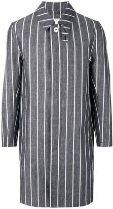 MACKINTOSH striped button coat