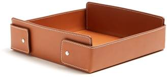 CONNOLLY Collapsible large leather desk tidy