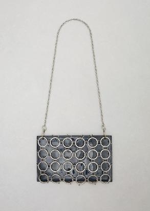 Rachel Comey space patent sila chain bag $379.50 thestylecure.com