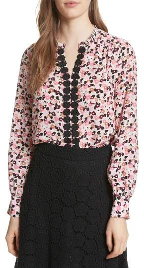 Kate Spade New York Bloom Print Silk Blouse