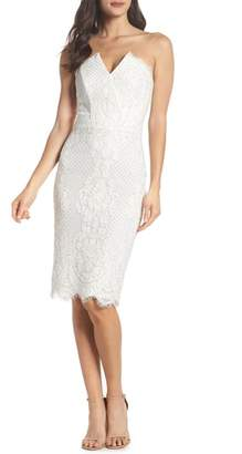 Harlyn Strapless Lace Cocktail Dress