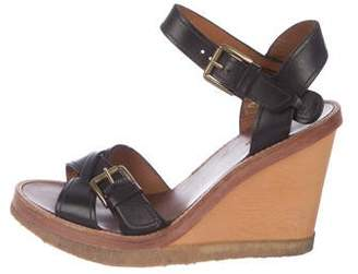 Isabel Marant Leather Platform Wedges