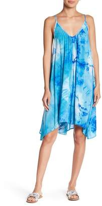 Love Stitch Tie Dye Trapeze Mini Dress