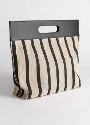 And other stories Striped Large Handle Tote