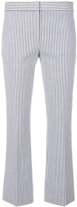 Theory pattern embroidered cropped trousers