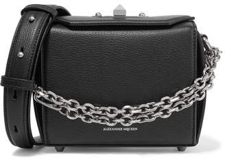 Alexander McQueen Box Bag 16 Textured-leather Shoulder Bag - Black