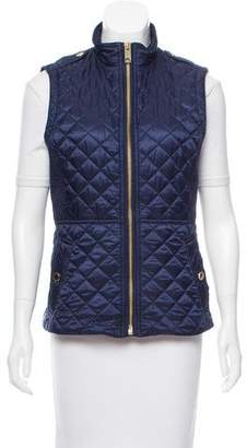 Burberry Quilted Mock Collar Vest