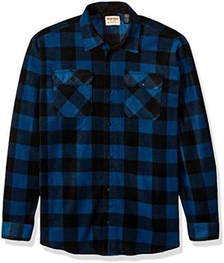 9f790fb14d2 Wrangler Authentics Men s Long Sleeve Plaid Fleece Shirt