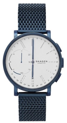 Skagen Hagen Connected Mesh Strap Hybrid Smart Watch, 42Mm $225 thestylecure.com