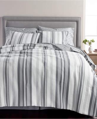 Martha Stewart Collection Ridge Stripe Cotton 8-Pc. King Comforter Set