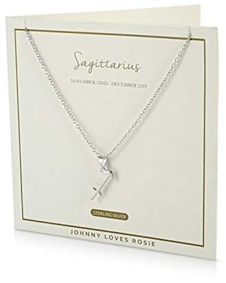 Johnny Loves Rosie Women 925 Silver Chain of Length 48cm Cancer Necklace T3RjzZIh7