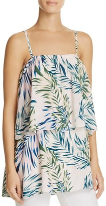 Olivaceous Palm Print Layered Top $74 thestylecure.com