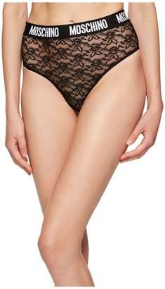 Moschino Lace Theme High-Waisted Brief Women's Underwear