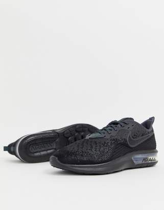 Nike Running Air Max sequent 4 sneakers in black ao4485-002