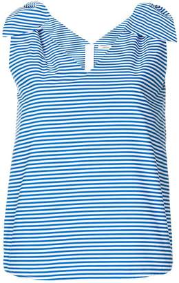 Odeeh bow detail striped tank top