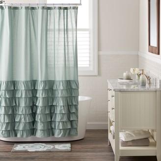 Lauren Conrad Ella Ruffle Fabric Shower Curtain