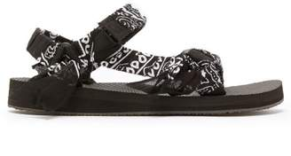 Arizona Love - Trekky Bandana Wrapped Sandals - Womens - Black