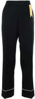 The Gigi contrast piping trousers