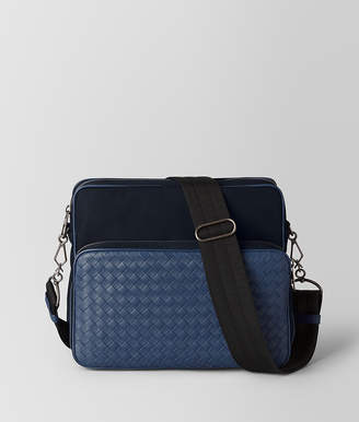 Bottega Veneta TOURMALINE/PACIFIC HI-TECH CANVAS MESSENGER