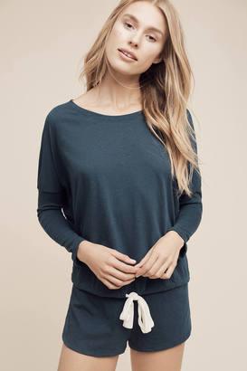 Eberjey Heather Tied Sleep Sweatshirt $69 thestylecure.com
