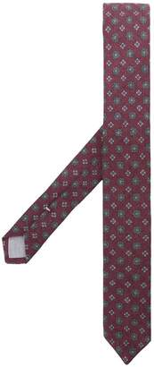 Eleventy floral jacquard embroidery tie
