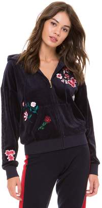 Juicy Couture Velour Floral Couture Sunset Jacket