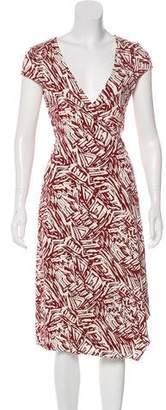 BCBGMAXAZRIA Midi Wrap Dress