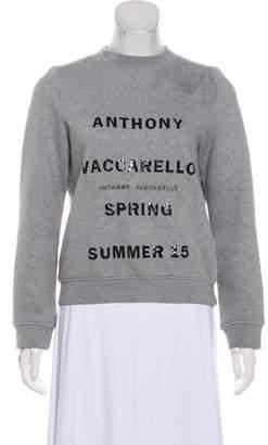 Anthony Vaccarello Graphic Crew Neck Sweatshirt