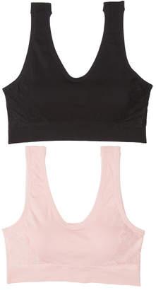 2pk Seamless Side Lace Lounge Bras