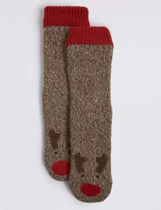 Marks and Spencer Rudolph Slipper Socks