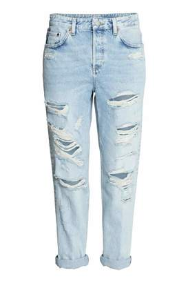 H&M Boyfriend Low Ripped Jeans