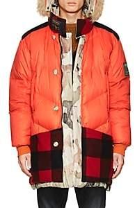 Woolrich Men's Atlantic Reversible Fur-Trimmed Down Parka - Grn. Pat.