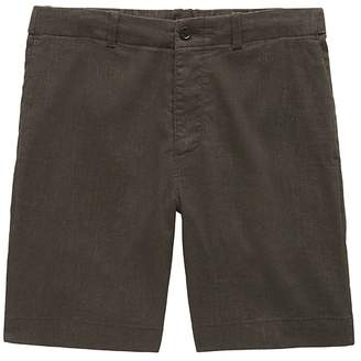"Banana Republic 9"" Stretch-Cotton Aiden Slim Houndstooth Short"