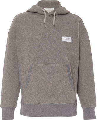 Givenchy Melange Cotton-Jersey Hooded Sweatshirt