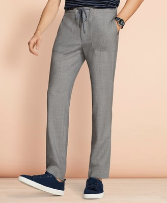 Brooks Brothers Wool Drawstring Suit Trousers