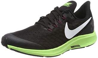 Nike Girls Air Zoom Pegasus 35 (Gs) Running Shoes Black/White/Burgundy Ash/Lime Blast 016, 5UK Child