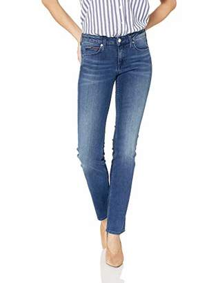 bbce3e506 Tommy Hilfiger Tommy Jeans Women's Straight Leg Sandy Mid Rise Jeans