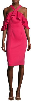 Jay Godfrey Weston Ruffle Overlay Sheath Dress