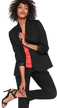 Pendleton Women's Collarless Wool One Button Blazer