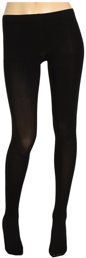 Betsey Johnson Peek A Bow Light Control Top Tights (Black) - Hosiery