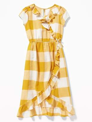 Old Navy Waist-Defined Ruffled Faux-Wrap Midi for Girls