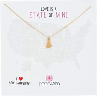 Dogeared State of Mind Virginia -Plated Sterling Silver Chain Necklace