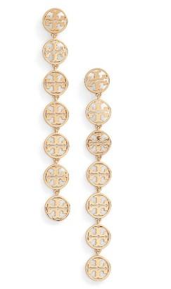 Women's Tory Burch Logo Linear Drop Earrings $95 thestylecure.com