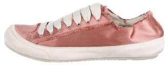 Pedro Garcia Satin Lace-Up Sneakers