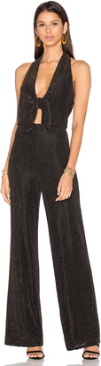 House of Harlow x REVOLVE Coco Jumpsuit Black & Gold $218 thestylecure.com